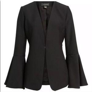 Halogen Medium Petite Bell Sleeve Blazer Black